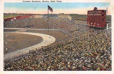 spo023A455 - Yankee Stadium Baseball Stadium Postcard Post Card