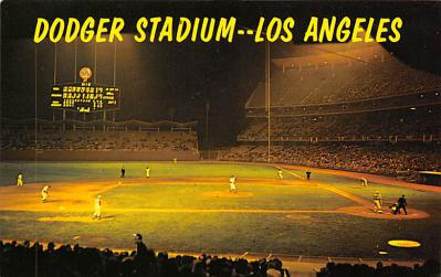 spo023A459 - Dodger Stadium Baseball Stadium Postcard Post Card