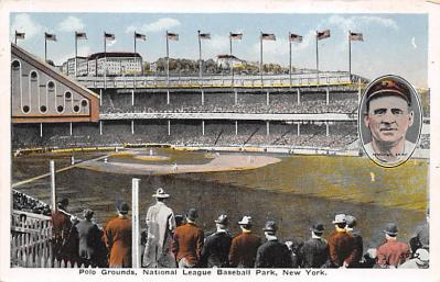 spo023A461 - Polo Grounds Baseball Stadium Postcard Post Card