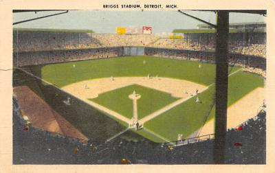 spo023A467 - Briggs Stadium Baseball Stadium Postcard Post Card