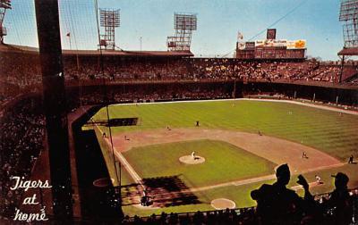 spo023A469 - Inside Tiger Baseball Stadium Postcard Post Card