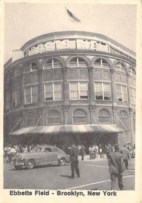 spo023A471 - Ebbetts Field, printed 1978, non postcard backing Baseball Stadium Postcard Post Card
