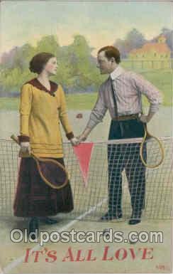 spo024005 - Tennis Postcard Postcards
