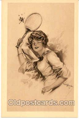 spo024027 - Tennis Postcard Postcards