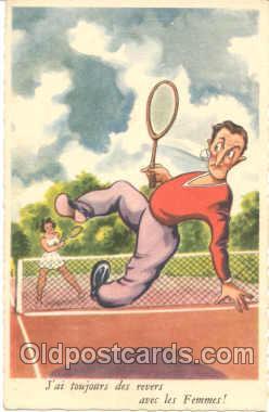 spo024036 - Tennis Postcard Postcards