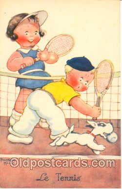spo024047 - Artist Beatice Mallet, Tennis Postcard Postcards