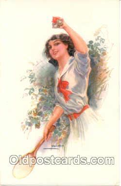spo024072 - Tennis Postcard Postcards <br><br> Artist Usable