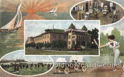 spo024080 - Long Beach Sanitarium, Long Beach, CA, USA Tennis Postcard Postcards