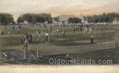 spo024081 - Tennis Grounds, Jackson Park, Chicago, IL, USA Tennis Postcard Postcards