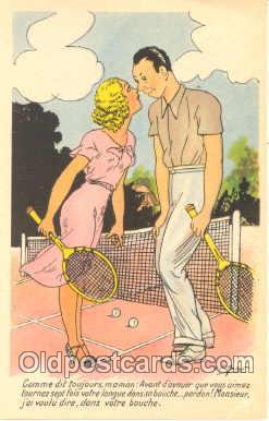 spo024233 - Tennis Postcard Postcards