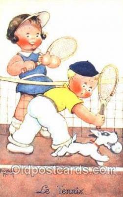 spo024266 - Artist Beatrice Mallet,  Tennis Postcard Postcards