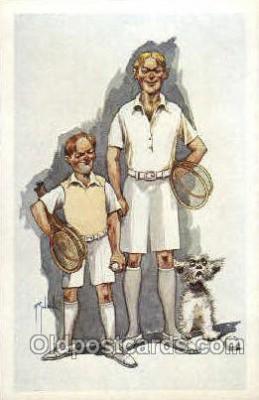 spo024537 - Tennis, Old Vintage Antique, Post Card Postcard