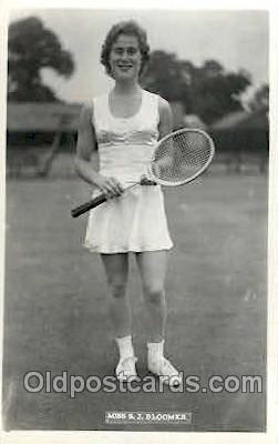 spo024547 - S.J. Bloomer Tennis, Old Vintage Antique, Post Card Postcard