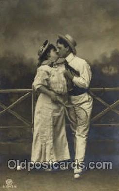 spo024554 - Tennis, Old Vintage Antique, Post Card Postcard