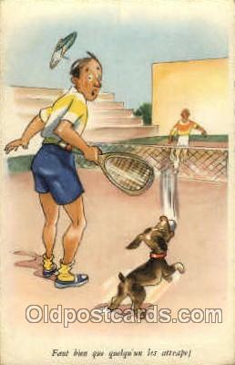 spo024558 - Tennis, Old Vintage Antique, Post Card Postcard