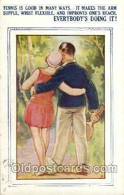 spo024580 - Tennis, Old Vintage Antique, Post Card Postcard