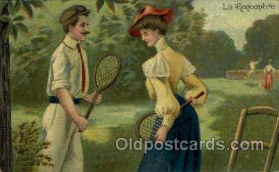 spo024600 - La Rencontre Tennis, Old Vintage Antique, Post Card Postcard