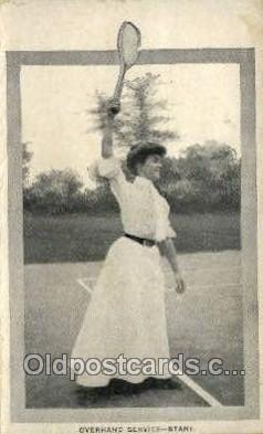 spo024734 - Overhand Service - Start Tennis Old Vintage Antique Postcard Post Cards