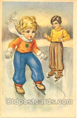 spo025012 - Ice Skating, Winter Sports Postcard Postcards