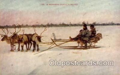 spo025078 - Sleigh Riding, Winter Sports Postcard Postcards
