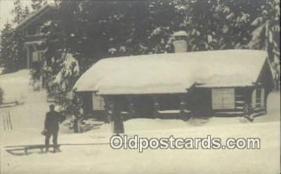 spo025325 - Ski, Skiing Postcard Post Card Old Vintage Antique