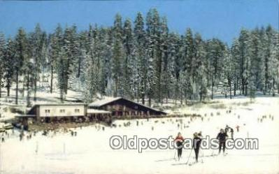 spo025329 - Badger Pass Ski House, Yosemite National Park, CA USA Ski, Skiing Postcard Post Card Old Vintage Antique