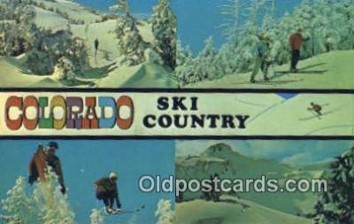 spo025443 - Ski Country, CO USA Ski, Skiing Postcard Post Card Old Vintage Antique