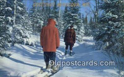 spo025458 - Minocqua, WI USA Ski, Skiing Postcard Post Card Old Vintage Antique