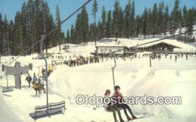 spo025468 - Badger Pass Ski House, Yosemite National Park, CA USA Ski, Skiing Postcard Post Card Old Vintage Antique