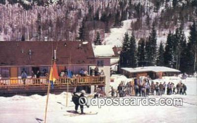 spo025507 - Hondo Lodge, Taos Ski Valley, Taos, NM USA Ski, Skiing Postcard Post Card Old Vintage Antique