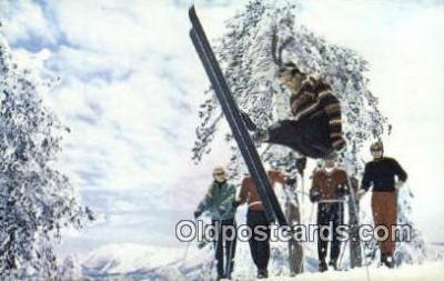spo025508 - Snow Summit, Big Bear Lake, CA USA Ski, Skiing Postcard Post Card Old Vintage Antique