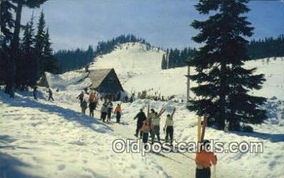 spo025512 - Snoqualmie Summit Ski Area, WA USA Ski, Skiing Postcard Post Card Old Vintage Antique
