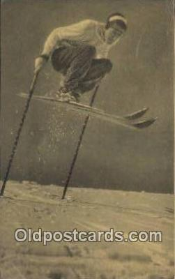 spo025521 - Ski, Skiing Postcard Post Card Old Vintage Antique
