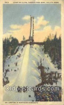Giant Ski Slide Chester Park Bowl, Duluth, MN USA
