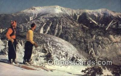 spo025590 - Mt Lafayette, Franconia Notch, NH USA Skiing Postcard Post Card Old Vintage Antique