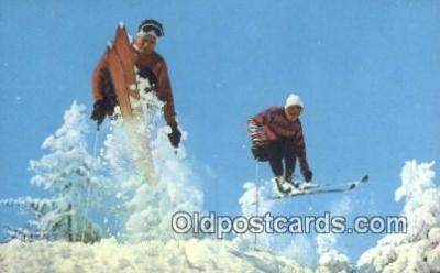 spo025595 - Skiing Postcard Post Card Old Vintage Antique