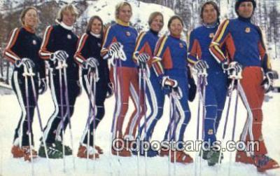 spo025935 - Yamaha Supports the US Team 1976 US Ski Team Postcard Post Card, Carte Postale, Cartolina Postale, Tarjets Postal,  Old Vintage Antique