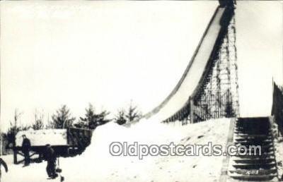 spo025966 - Pine Mountain Ski Slide Iron Mountain Michigan, USA Postcard Post Card, Carte Postale, Cartolina Postale, Tarjets Postal,  Old Vintage Antique