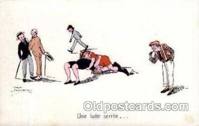 spo026048 - Artist Jack Number, woman Wrestling Postcard Postcards