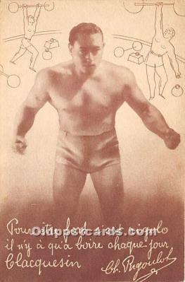 spo026101 - Old Vintage Wrestling Postcard Post Card