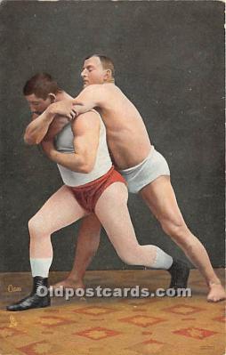 spo026107 - Old Vintage Wrestling Postcard Post Card