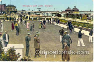 spo028005 - Brighton, Sussex, Miniature Golf Sports Postcard Postcards