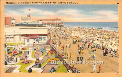 spo028058 - Old Vintage Miniature Golf Postcard Post Card