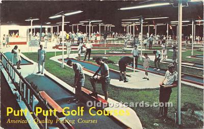 spo028070 - Old Vintage Miniature Golf Postcard Post Card
