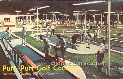 spo028073 - Old Vintage Miniature Golf Postcard Post Card