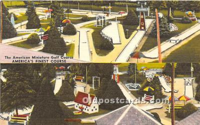spo028076 - Old Vintage Miniature Golf Postcard Post Card