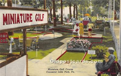 spo028078 - Old Vintage Miniature Golf Postcard Post Card