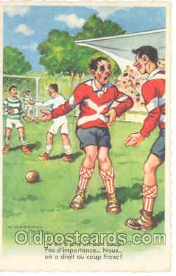 spo030005 - Artist Chaperon Jean, Soccer, Football, Postcard Postcards
