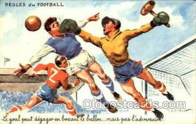 spo030118 - Regles du Football Soccer Postcard Post Card Old Vintage Antique