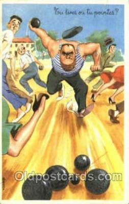 spo032178 - Lawn Bowling, Postcard Post Card Old Vintage Antique